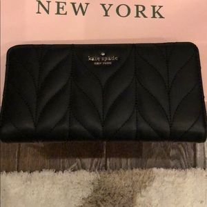 Kate Spade Briar Lane Quilted Leather Zip Wallet